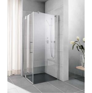 Kermi Bočná stena Pasa XP WD 08018 770-800 / 1850 strieborná matná ESG číre Clean bočná stena pre 1-krídlové kyvné dvere s pevnými poľami (PXUWD080181PK)