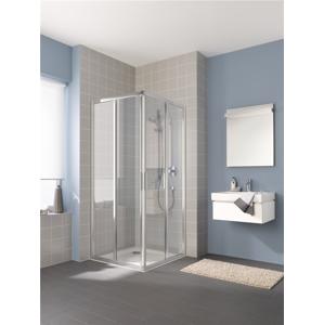 KERMI - Cada XS stříbrná lesk 2D RV pravá 2/2 (posuvné dveře) 800/2000 čiré sklo s CadaClean CCE2R08020VPK (CCE2R08020VPK)