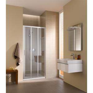 Kermi Posuvné dvere Cada XS G3R 07020 670-710 / 2000 strieborná vys.lesk ESG číre Clean 3-dielne posuvné dvere s pevným poľom vpravo (CCG3R07020VPK)