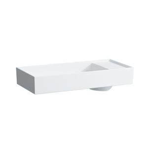 Laufen - Kartell Umyvadlová mísa, 750 x 350 mm, bílá, Umývadlová misa, 750 mm x 350 mm, biela – 1 otvor na batériu, stredový, s LCC (H8123324001041)