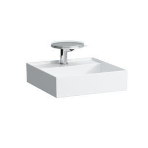 Laufen - Kartell Umývátko, 460 x 460 mm, bílá, Umývadielko, 460 mm x 460 mm, biela – bez prepadu, s 1 otvorom na batériu, s LCC (H8153314001111)