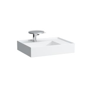 Laufen Laufen - Kartell Umyvadlo, 600 x 460 mm, bílá, Umývadlo, 600 mm x 460 mm, biela – 1 otvor na batériu, stredový, s LCC (H8103344001041)