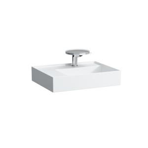 Laufen - Kartell Umývadlo, 600 mm x 460 mm, biela – bez prepadu, bez otvoru na batériu (H8103350001121)