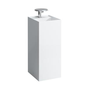 Laufen Laufen - Kartell Volně stojící umyvadlo, 375 x 435 mm, bílá, Voľne stojacie umývadlo, 375 mm x 435 mm, biela – bez prepadu, s 1 otvorom na batériu, s LCC (H8113314001111)