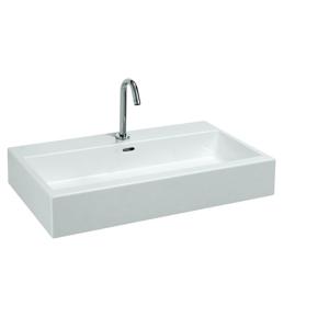 Laufen Laufen - Living Umyvadlo, 800 x 460 mm, bílá, Umývadlo, 800 mm x 460 mm, biela – bez otvoru na batériu (H8174360001091)