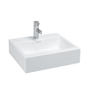 Laufen Laufen - Living Umyvadlo do nábytku, 500 x 460 mm, bílá, Umývadlo do nábytku, 500 mm x 460 mm, biela – s 3 otvormi na batériu (H8174320001081)