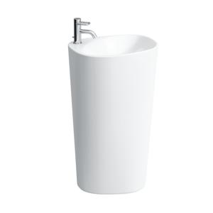 Laufen Laufen - Palomba Collection Volně stojící umyvadlo, 520 x 395 mm, bílá, Voľne stojacie umývadlo, 520 mm x 395 mm, biela – 1 otvor na batériu, stredový, s LCC (H8118034001041)