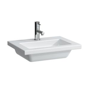 Laufen - Living Umývátko, 500 x 380 mm, bílá, Umývadielko, 500 mm x 380 mm, biela – bez otvoru na batériu (H8154340001091)