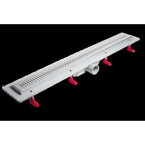 LaVilla sprchový žlab plastový MIANO s roštem BASIC 900mm boční odtok DN50 (LA25BNL0900B5)