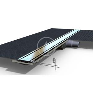 Level-3 Rošt z nehrdzavejúcej ocele na sprchový žľab Level-3 brúsený, dĺžka 1200 mm (IDRO1200Z)