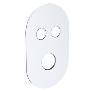 MEREO - Kryt oválný pro 2-cestnou podomítkovou termostatickou baterii, 120 * 200 mm (CB415TOS2)