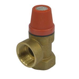 """MEREO - Poisťovací ventil pre bojler s pevne nastaveným tlakom 10 bar, 3/4"""" (PR2415C)"""