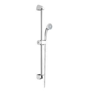 MEREO - Sprchová súprava, jednopolohová sprcha, sprchová hadica, nastaviteľný držiak, plast/chróm (CB900Y)