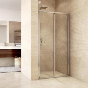 MEREO - Sprchové dveře zalamovací, Mistica, 80x190 cm, chrom ALU, sklo Čiré (CK80113H)