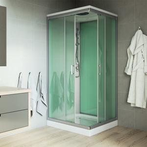 MEREO - Sprchový box, čtvercový, 90 cm, profily satin, sklo Point, SMC vanička, bez stříšky (CK34122B)