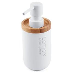 NIMCO - KORA dávkovač na mýdlo 270ml bílá/bambus KO 24031-05 (KO 24031-05)