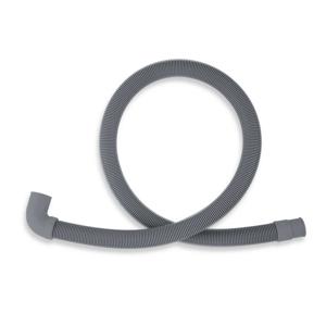 NOVASERVIS - Práčková vypúšťacia hadica s kolenom 150 cm šedá-150cm (PVK/150)