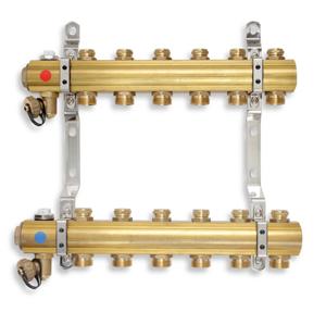 NOVASERVIS - ROZDEĽOVAČ s regulačnými a mechanickými ventilmi 8 okruhov (RO08S)