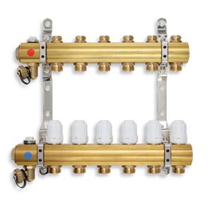 NOVASERVIS - ROZDEĽOVAČ s regulačnými, termost. a mech. ventilmi 6okruhov (RZ06S)