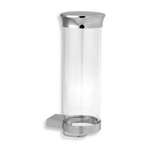 NOVASERVIS - Zásobník na kozmetické tampóny sklo Metalia 9 chróm (0972,0)