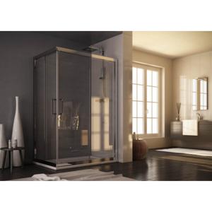 Obdélníkový a čtvercový sprchový kout ROMA - 190 cm, Univerzální, Leštěný hliník, Čiré bezpečnostní sklo 6 mm, 68 - 72 cm (BLRO300CC)