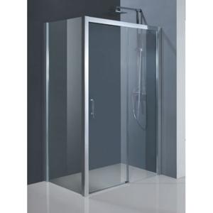 HOPA - Obdélníkový sprchový kout ESTRELA KOMBI - 195 cm, 120 cm × 80 cm, Levé (SX), Hliník chrom, Čiré bezpečnostní sklo - 6 mm (BCESTR12CCL+BCESTR80PSCC)