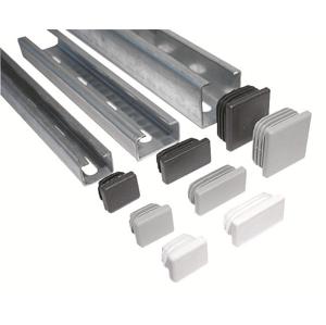 Ostatní - Nosník-záslepka plast. šedá 40x20mm 39902240 (39902240)