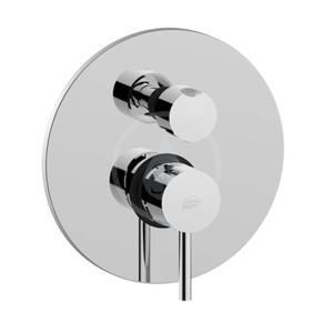 PAFFONI - Stick Sprchová podomietková batéria s prepínačom, 2 vývody, chróm (SK018CR)
