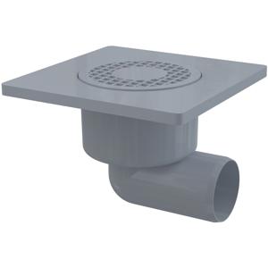 Podlahová vpusť 150x150/50 boční šedá ALCAPLAST APV3 (APV3)
