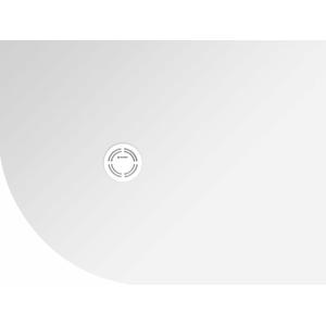 POLYSAN - FLEXIA sprchová vanička z liateho mramoru štvrťkruh, s možnosťou úpravy rozmeru, 100x90x3cm, R550, pravá 91331