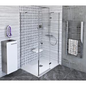 POLYSAN - FORTIS LINE obdĺžniková sprchová zástena 1100x800 mm, R varianta (FL1011RFL3580)