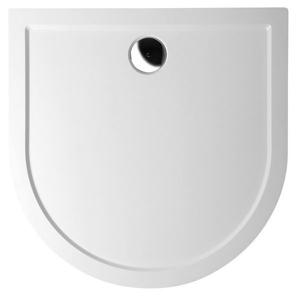 POLYSAN - ISA sprchová vanička z liateho mramoru, polkruh 90x90x4cm, biela (50511)