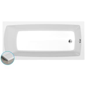 POLYSAN - LILY SLIM obdélníková vana 140x70x39cm, bílá (72201S)