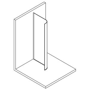 POLYSAN - MODULAR SHOWER jednodílná zástěna pevná k instalaci na zeď, R550, 1107 mm (MS1-120-C)