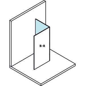 POLYSAN - MODULAR SHOWER prídavný panel na inštaláciu na stenu modulu 2, 400 mm, pravý (MS2B-40R)