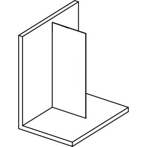 POLYSAN - MODULAR SHOWER stena na inštaláciu na múr, jednodielna, 1300 mm (MS1-130)