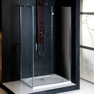 POLYSAN - VITRA LINE sprchová zástena, obdĺžnik 1100x700mm, pravá, číre sklo (BN7315R)