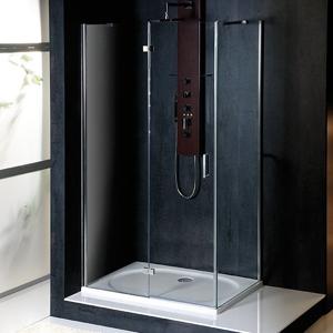 POLYSAN - VITRA LINE sprchová zástena, obdĺžnik 800x700mm, ľavá, číre sklo (BN7015L)