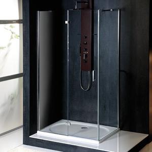 POLYSAN - VITRA LINE sprchová zástena, obdĺžnik 800x900mm, ľavá, číre sklo (BN8015L)