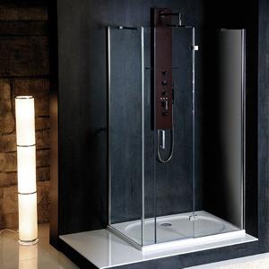 POLYSAN - VITRA LINE zástena bez držiaku osušky, obdĺžnik 1400x1000mm, prava, číre sklo (BN0915R)