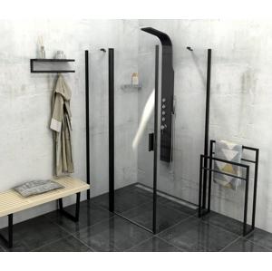 POLYSAN - Zoom Line Black obdélníkový sprchový kout 1100x800mm L/P varianta (ZL1311BZL3280B)