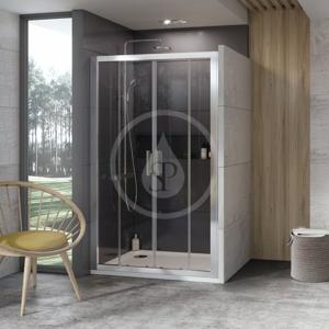 RAVAK - 10° Sprchové dveře čtyřdílné 10DP4-140, 1400 mm, lesklý nerez/sklo (0ZKM0C00Z1)