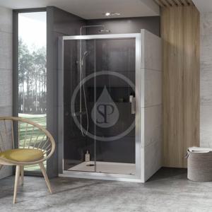 RAVAK - 10° Sprchové dveře dvoudílné 10DP2-110, 1100 mm, bílá/sklo (0ZVD0100Z1)