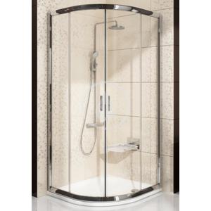 RAVAK - Blix Čtvrtkruhový sprchový kout posuvný čtyřdílný BLCP4, 875 - 895 x 875 - 895 mm, Štvrťkruhový sprchovací kút posuvný štvordielny BLCP4, 875 mm – 895 mmx875 mm – 895 mm – farba lesklý hliník, sklo grape (3B270C00ZG)
