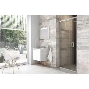RAVAK - Blix Sprchové dvere zalamovacie dvojdielne BLDZ2-70, 670 mm – 710 mm x 1900 mm, farba lesklý hliník, sklo transparent (X01H10C00Z1)