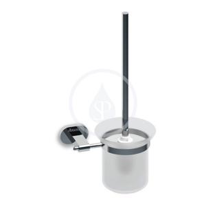 RAVAK - Chrome Držiak s nádobkou a WC kefou, chróm/sklo (X07P196)