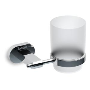 RAVAK - Chrome Držiak s pohárikom, chróm/sklo (X07P188)