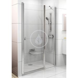 RAVAK - Chrome Sprchové dveře dvoudílné CSD2 - 110, 1075 - 1105 mm, Sprchové dvere dvojdielne CSD2-110, 1075 mm – 1105 mm – farba biela, sklo transparent (0QVDC100Z1)