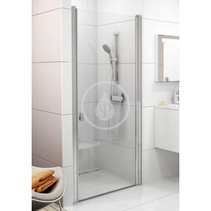 RAVAK - Chrome Sprchové dveře jednodílné CSD1 - 80, 775 - 805 mm, Sprchové dvere jednodielne CSD1-80, 775 mm – 805 mm – farba lesklý hliník, sklo transparent (0QV40C00Z1)