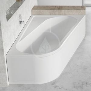 RAVAK - Chrome Vana asymetrická 1600x1050 mm, levá, bílá (CA51000000)